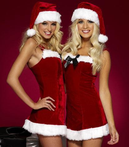 Шьем платье и шапочку подружки Санта-Клауса
