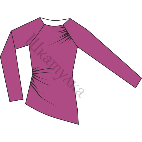 Выкройка пуловера со сборками по бокам