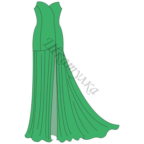 Выкройка асимметричного вечернего платья