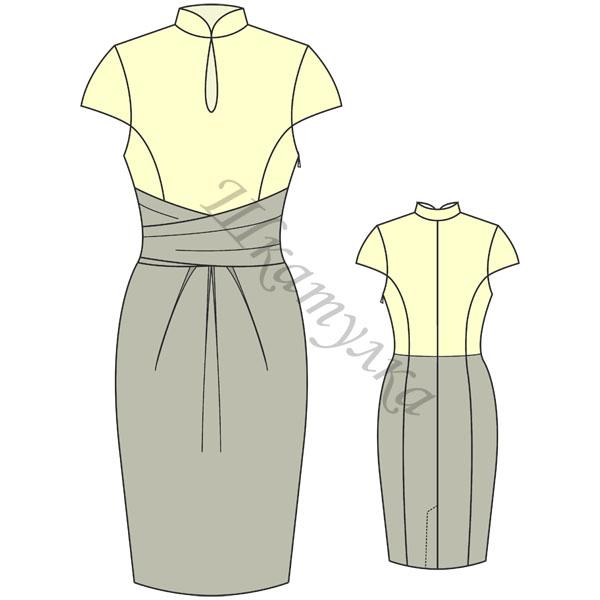 Выкройка платья-футляр