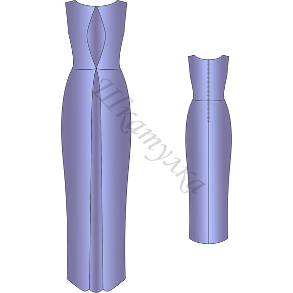 Выкройка платья с встречной складкой
