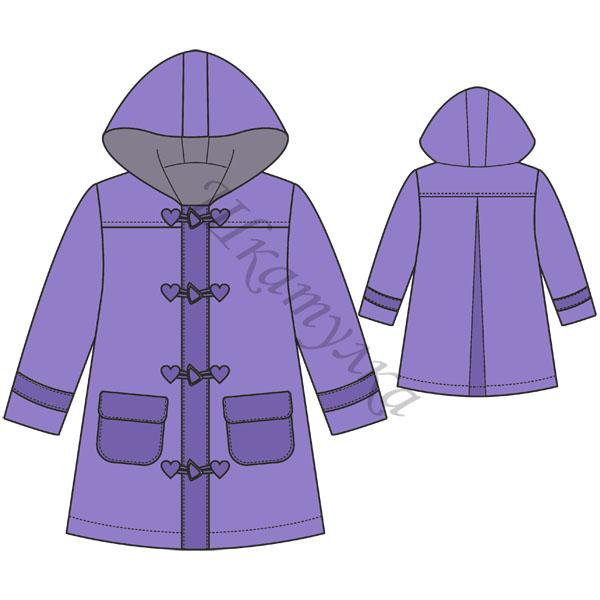 Выкройка пальто с капюшоном для девочки