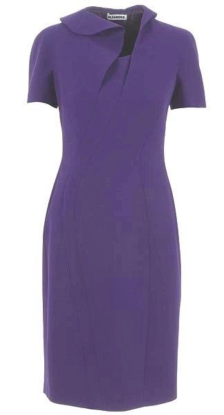 Разбираем модель фиолетового платья