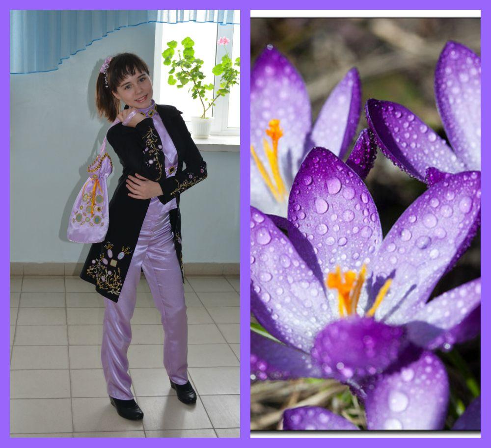 Модель «Милые крокусы» из моей коллекции одежды «Весенние первоцветы»
