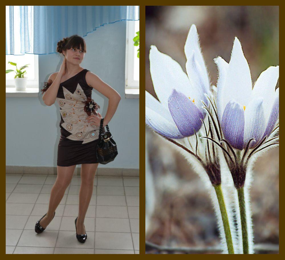 Модель » Нежные подснежники» из моей коллекции одежды » Весенние первоцветы»