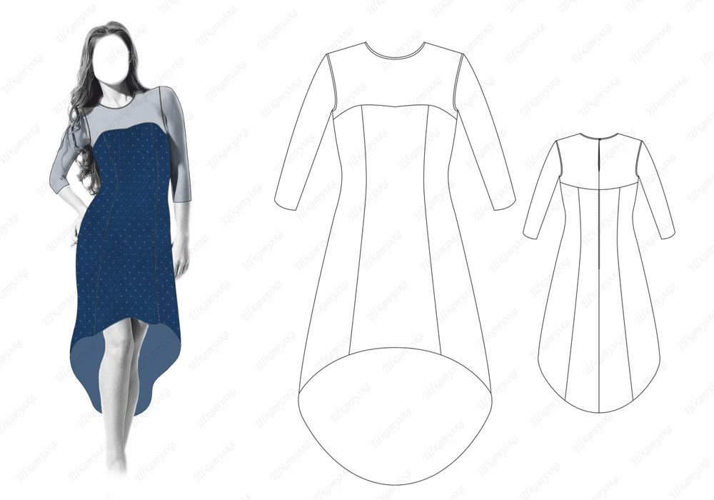 Платье D15 — готовая выкройка