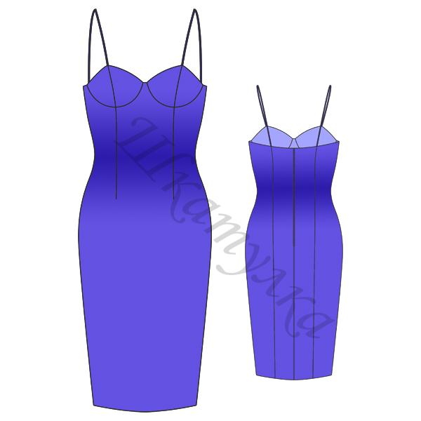 Выкройка корсажного платья
