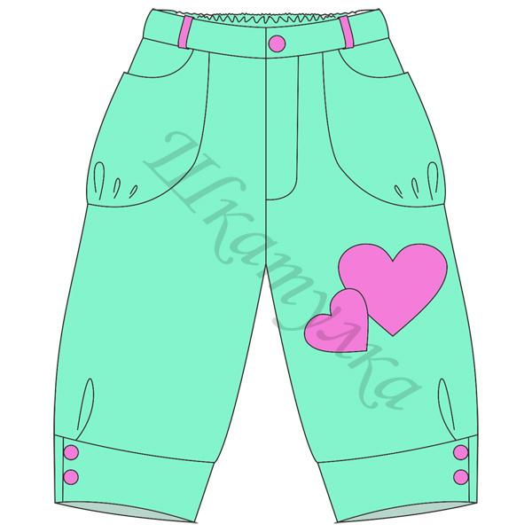 Выкройка брюк капри для девочки
