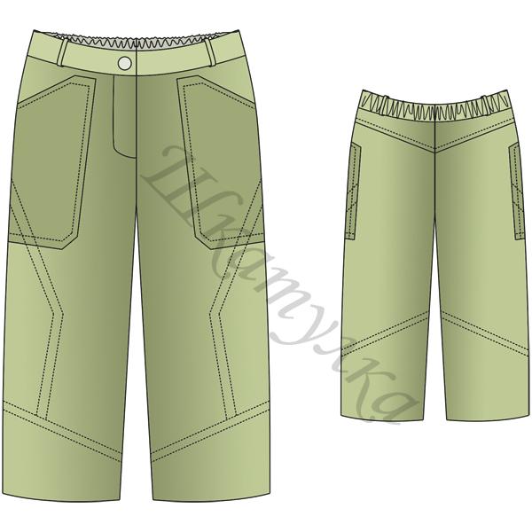 Выкройка летних брюк для мальчика