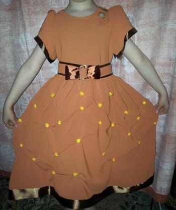 Платье к осеннему балу.