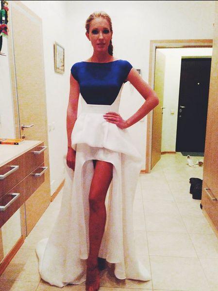 Моделирования платья с двойной юбкой