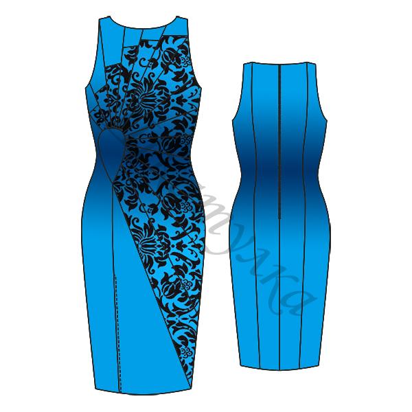 Выкройка платья с асимметричными вставками
