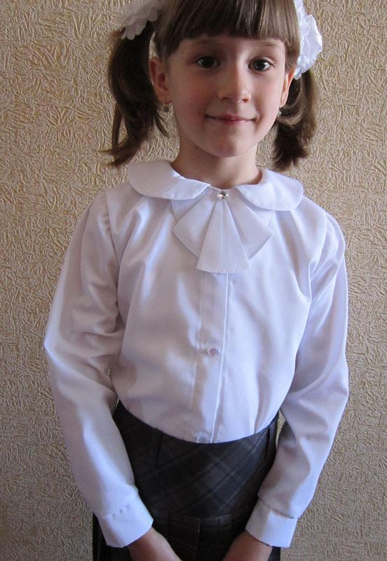 Как сшить девочке блузку в школу 98