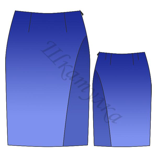 Выкройка прямой юбки для девочки