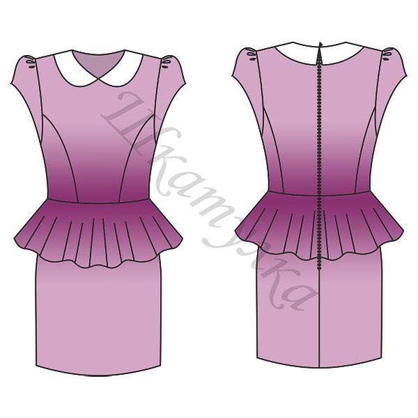 Выкройка платья с баской для девочки