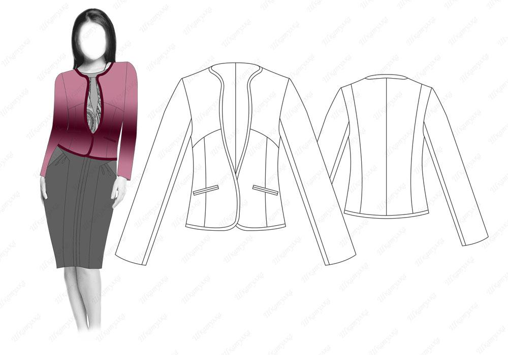 Выкройка пиджак для беременных 93