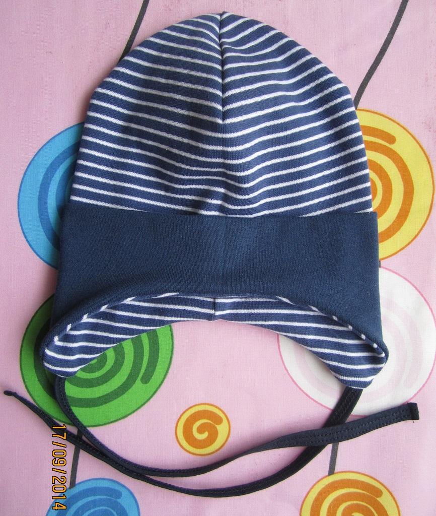 Сшить шапку из трикотажа с завязками 66