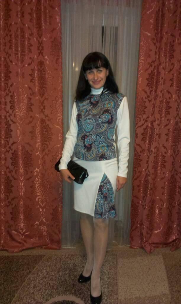 Костюм Осенняя пастель из серии Трикотаж осени