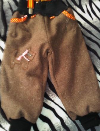 штанишки с кармашками для малыша