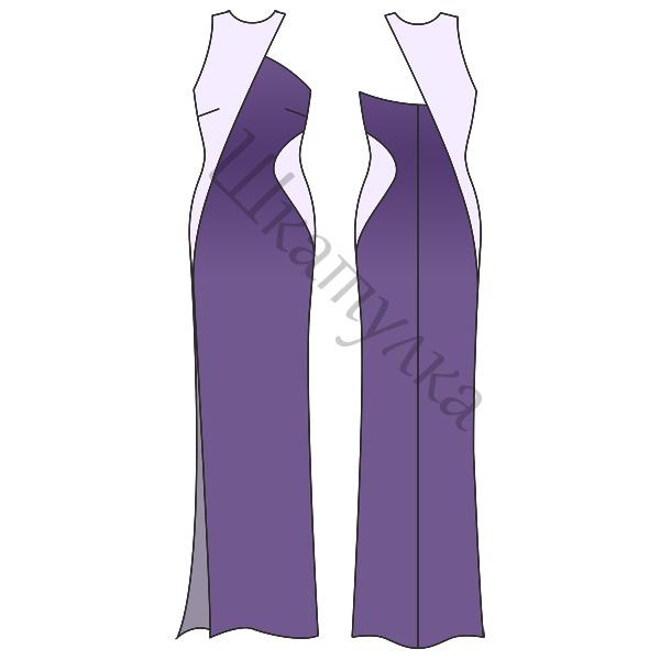 Выкройка вечернего контрастного платья
