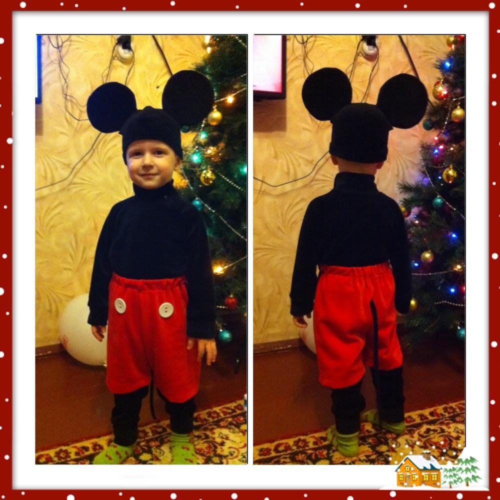 Как сделать костюм микки мауса для мальчика