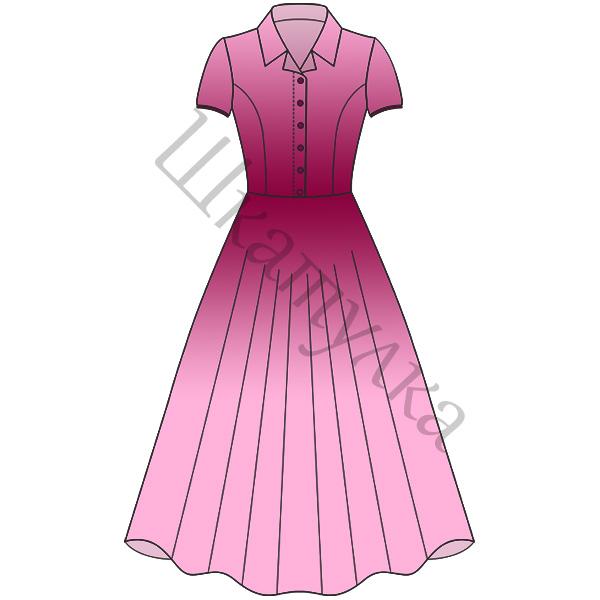 Выкройка платья в стиле нью-лук