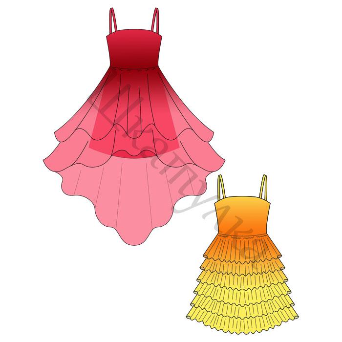 Выкройки бального платьев для девочки 7 лет
