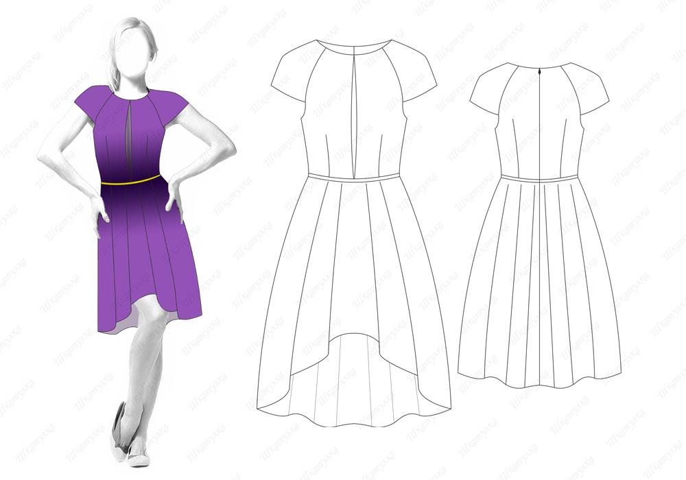 Эскизы платьев. как сшить платье 254