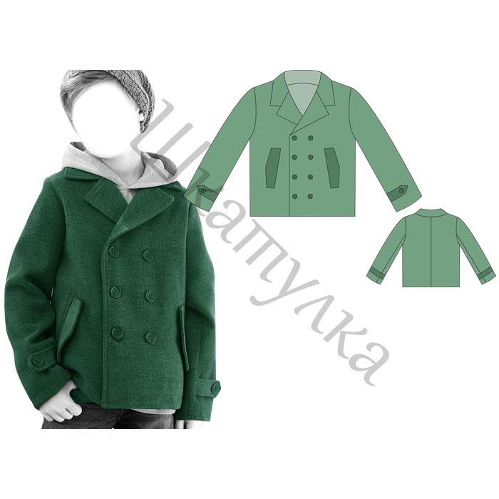 Выкройка двубортного пальто для мальчика