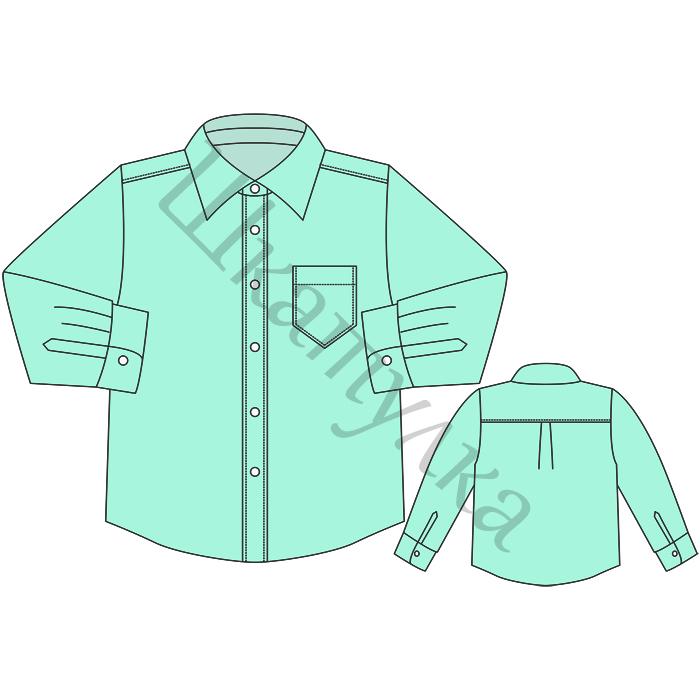 Выкройка детской рубашки