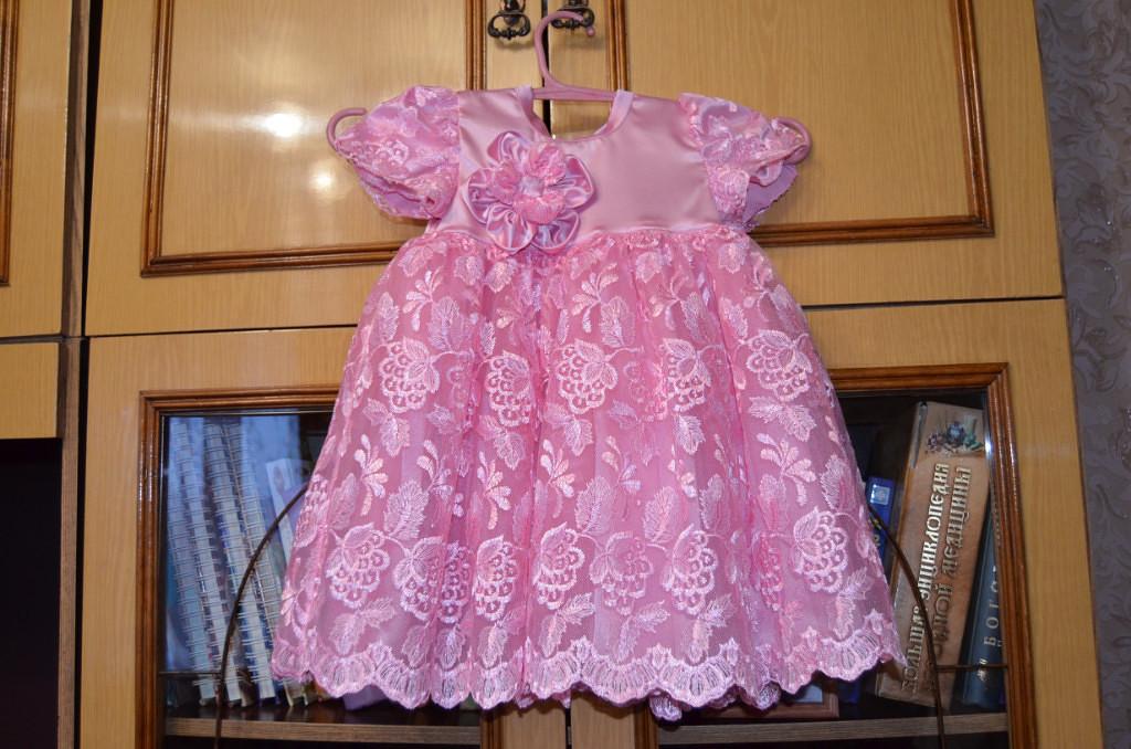 Платье дочери на 1 ДР (перед)