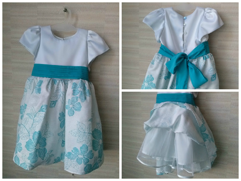 нарядное платье для младшей дочурки