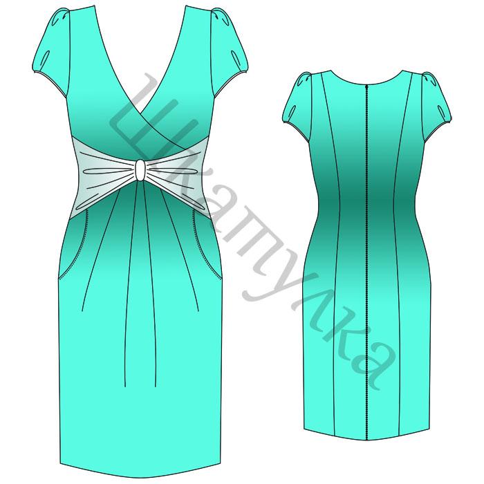 Выкройка платья WD180515