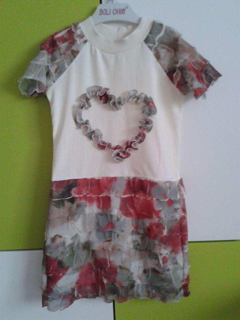 Платье с маками сшита по модели 7187
