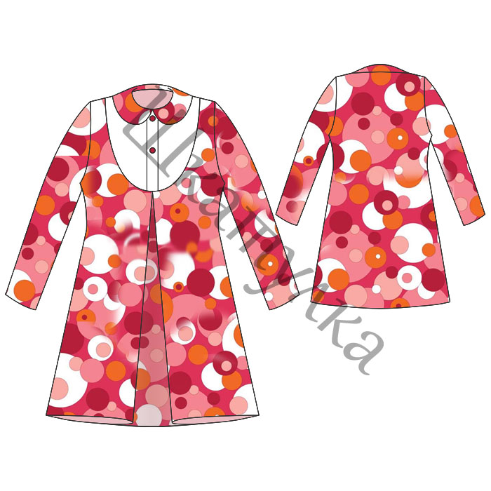 Выкройка платья с воротничком для девочки