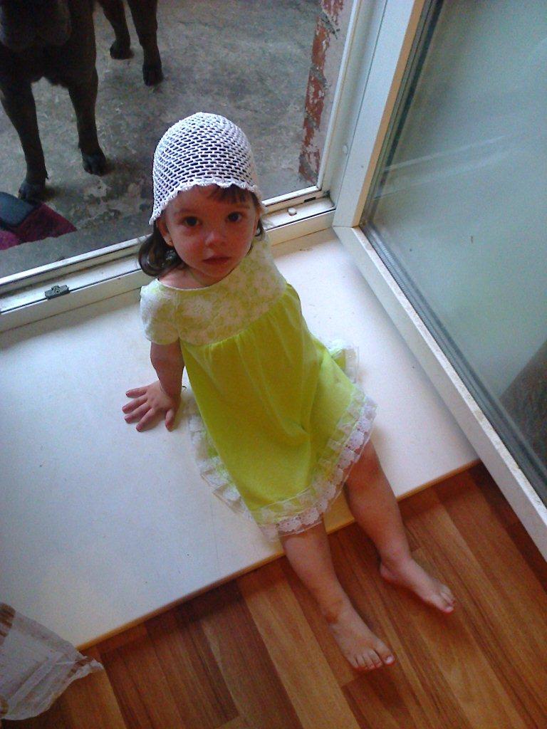 платья с рукавом-реглан для малышки