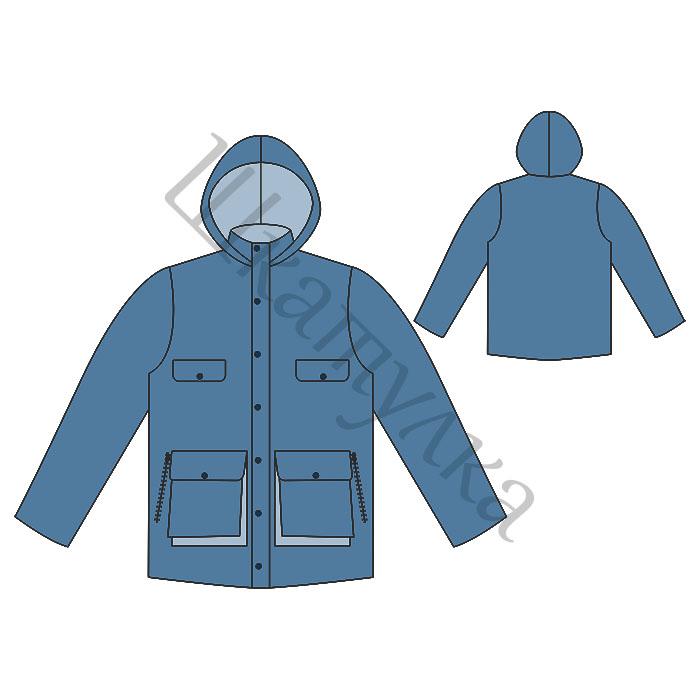 Выкройка мужской зимней куртки
