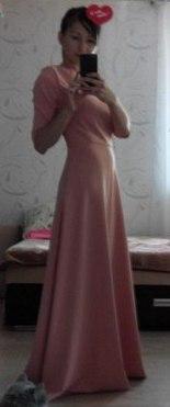 платье женское цвета пудра