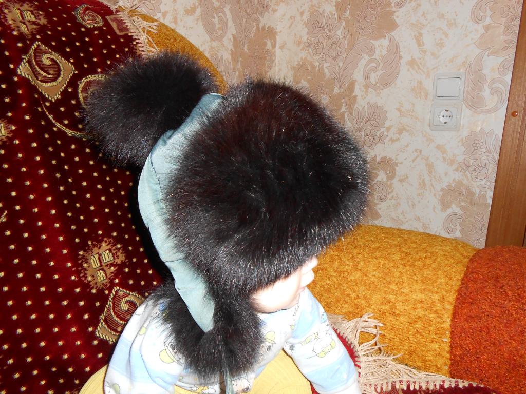 Зимняя шапка- ушанка