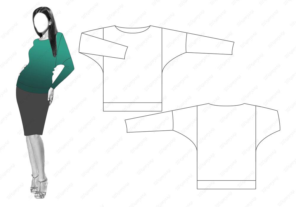 Пуловер Т12 — готовая выкройка