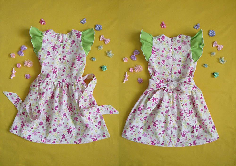 Платье для девочки со спущенными плечами