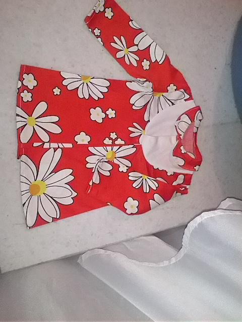 Платье с воротником для девочки