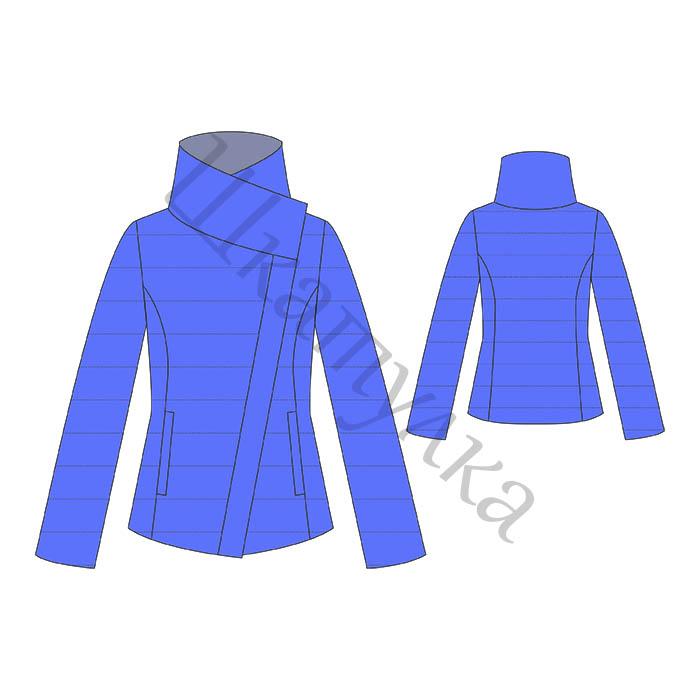 Выкройка женской лёгкой куртки