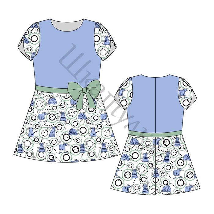 Выкройка платья с рукавом «тюльпан»