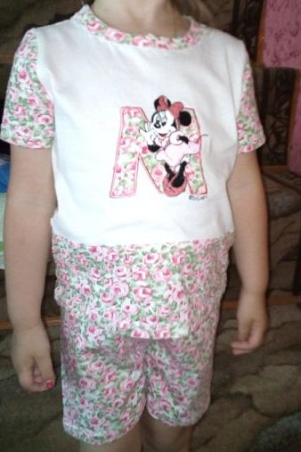 костюм для внучки из кулирки