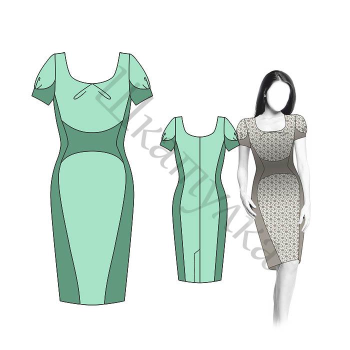 Платье D11 — готовая выкройка