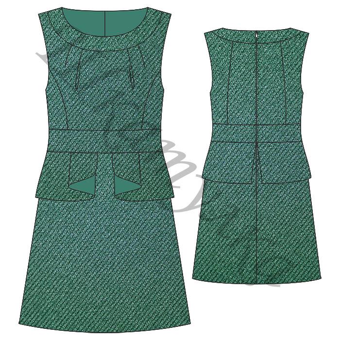 Выкройка школьного платья-сарафана