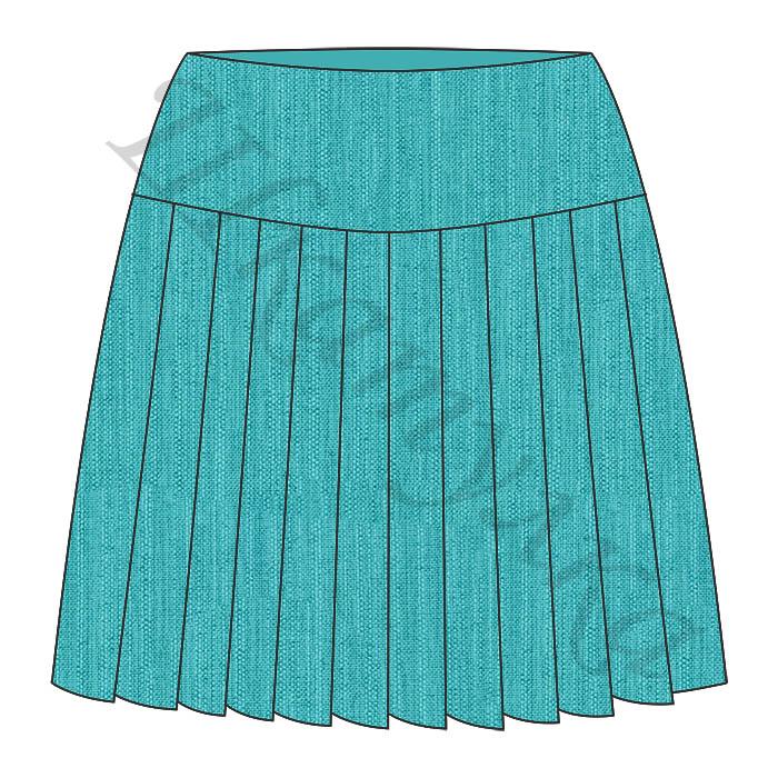Выкройка юбки со складками KS140816