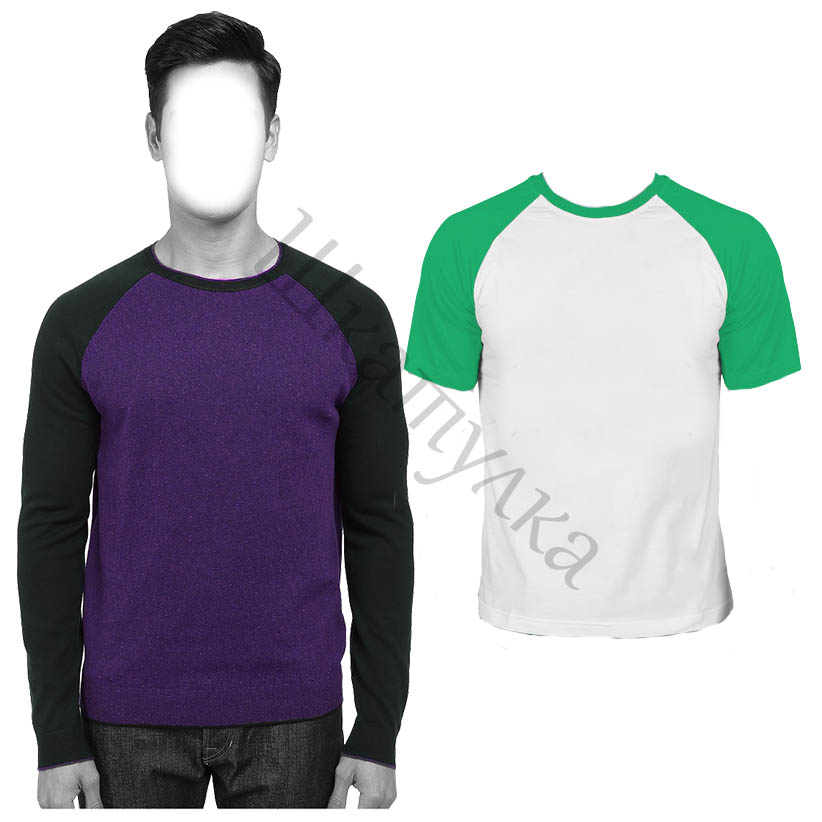 Выкройка толстовки и футболки с рукавом реглан