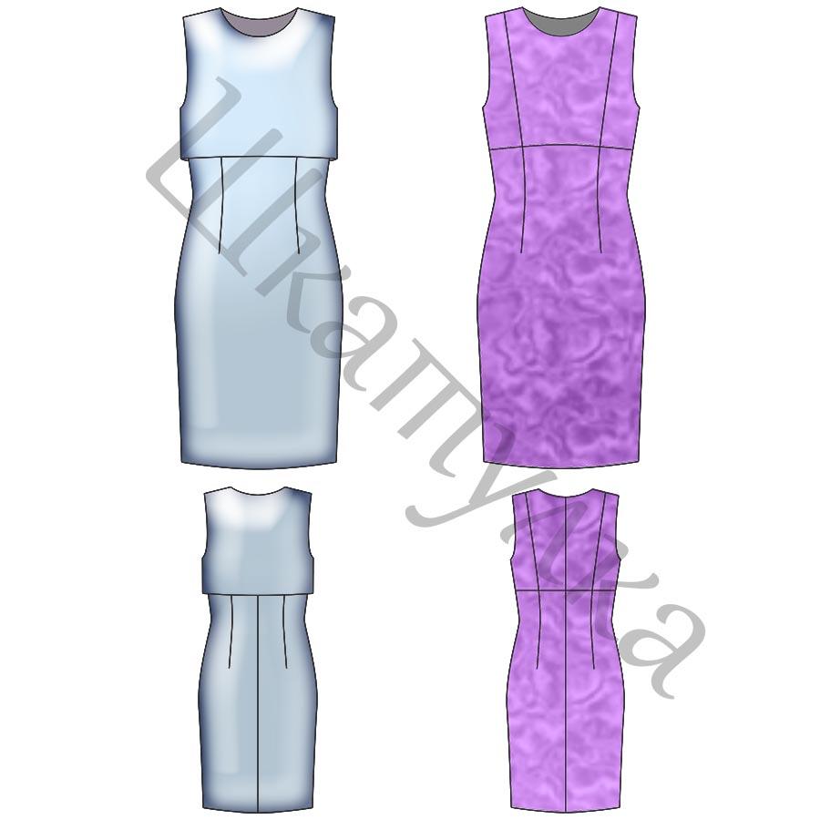 Выкройка платья с отлетной полочкой